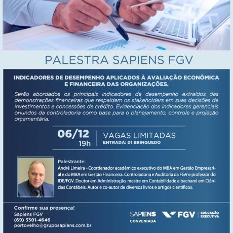 Sapiens FGV realiza palestra gratuita sobre Indicadores de Desempenho para Organizações