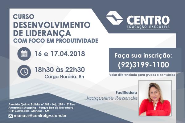 Curso: Desenvolvimento de Liderança – Jacqueline Rezende