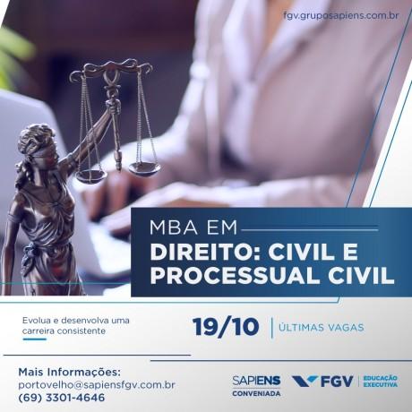 Inscrições abertas: confira as turmas de MBA da Sapiens FGV com início até dezembro deste ano em Porto Velho