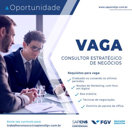 Oportunidade - Vaga para consultor
