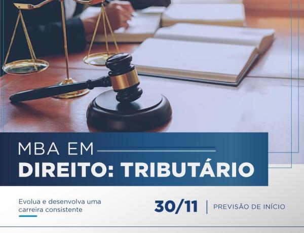 Segunda turma do MBA em Direito Tributário inicia dia 30 de novembro em Porto Velho; inscrições abertas